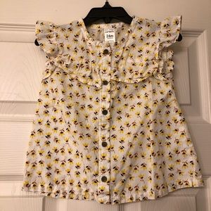 Carters floral sleeveless top size 24m
